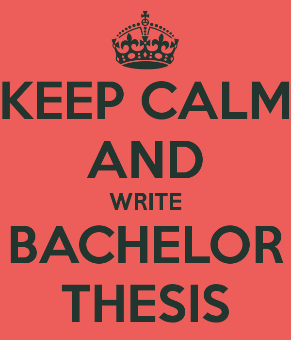 writing bachelor thesis